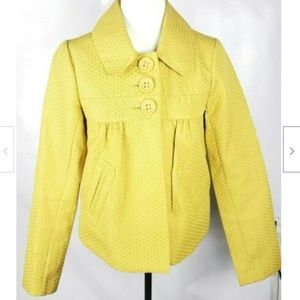 BB Dakota Blazer Jacket M Mustard Yellow Gold Line